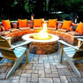 Outdoor Fire Pits-Plano TX Professional Landscapers & Outdoor Living Designs-We offer Landscape Design, Outdoor Patios & Pergolas, Outdoor Living Spaces, Stonescapes, Residential & Commercial Landscaping, Irrigation Installation & Repairs, Drainage Systems, Landscape Lighting, Outdoor Living Spaces, Tree Service, Lawn Service, and more.